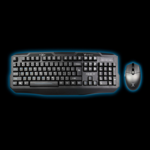 [Discontinued]FXR-CKM-07 Vehement Gaming Keyboard Mouse Combo 1