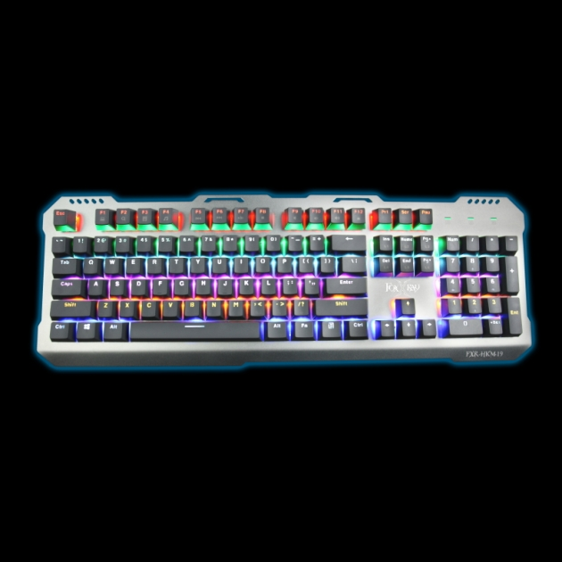 [Discontinued]FXR-HKM-19 Silver Wing Mechanical Gaming Keyboard 1